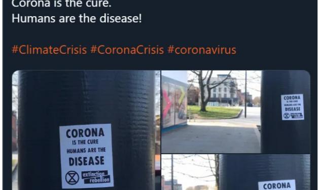 Extinction Rebellion: Menschen seien eine Krankheit und Corona-SARS die Heilung