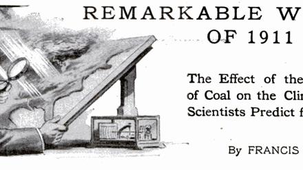Wurde schon 1912 vor dem schlimmen Klimawandel gewarnt? Ein Zeitungsartikel, doch zwei Interpretationen