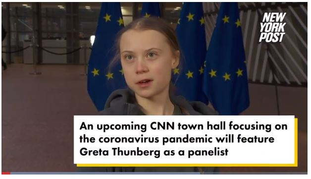 Greta Thunberg nun auch bei CNN in der Talk-show Runde über Corona vorgesehen
