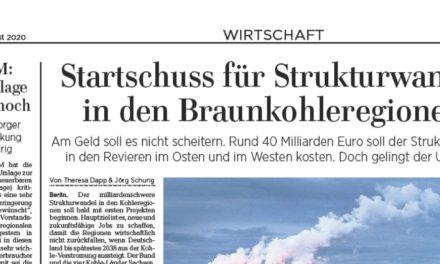 """Leserbrief zum """"Startschuss für Strukturwandel in den Braunkohleregionen, LVZ 28.08.20"""""""