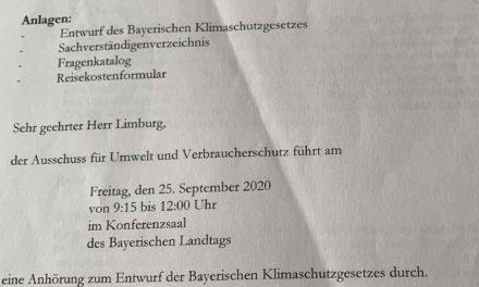 """Auch Bayern meint ein """"Klimaschutzgesetz"""" zu brauchen, oder wie ein Experte aus der offiziellen Berichterstattung verschwand"""