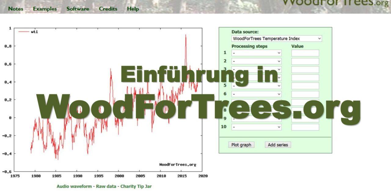 WoodForTrees, eine Empfehlung von Dr. Sebastian Lüning per Video