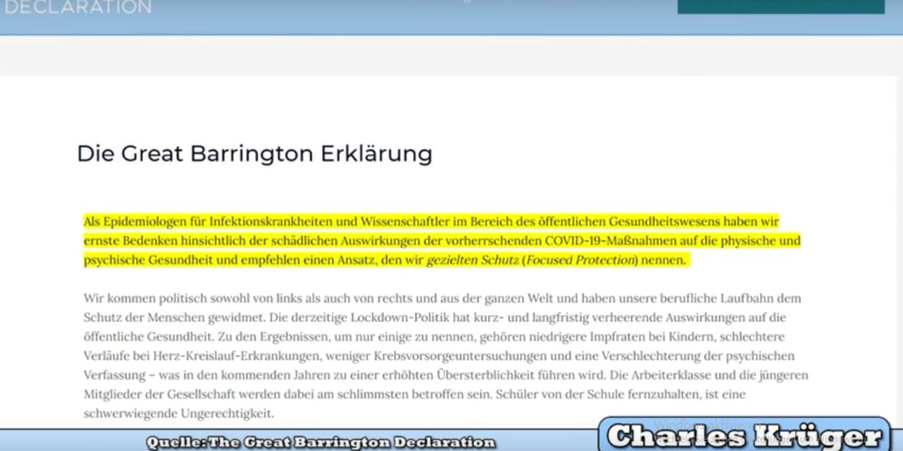 Schluß mit der Corona-Quarantäne: Die Great Barrington-Deklaration – Professoren aus Harvard, Oxford und Stanford und 200.000 Menschen