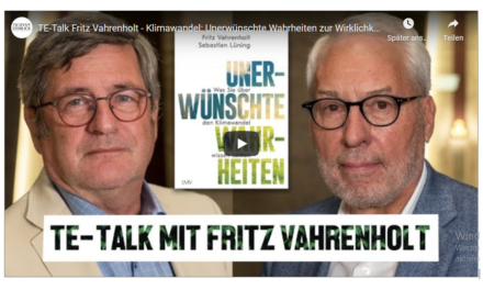 """Fritz Vahrenholt bei Roland Tichy: """"Klimawandel: Unerwünschte Wahrheiten zur Wirklichkeit"""""""