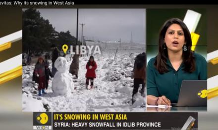 Kamele im Schnee: in Vorderasien wüten Eisstürme