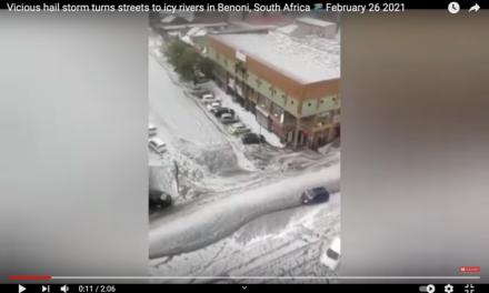 Verursacht der Nord-Polarwirbel in Südafrika Hagelstürme?