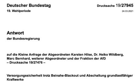 Steigende Blackoutgefahr in Deutschland ? Gibt´s nicht sagt die Bundesregierung, und wenn doch, sind die Netzbetreiber schuld!