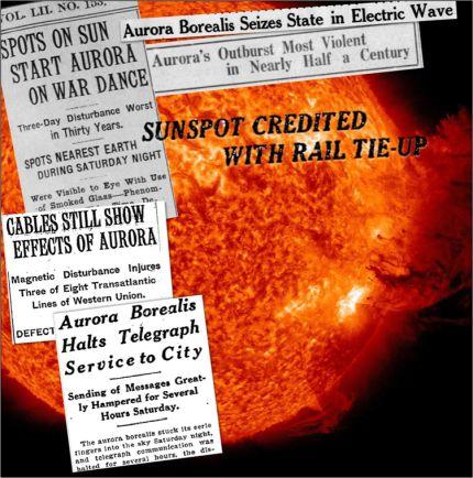 Der stärkste geomagnetische Sturm des 20. Jahrhunderts …