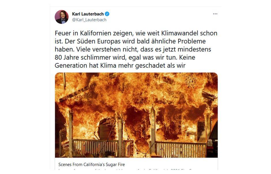 Nach der Pandemie ist vor der Klimakatastrophe: Lauterbach bereitet den Vereinswechsel vor