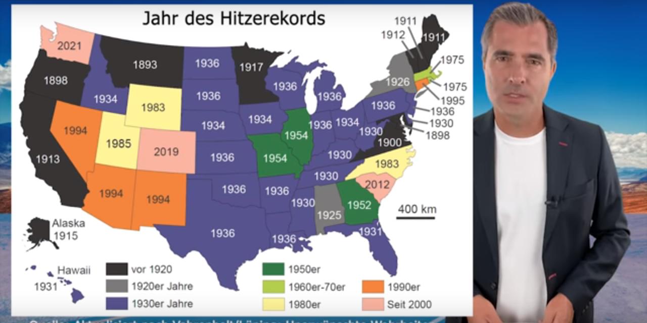 Die Klimaschau von Sebastian Lüning: Die meisten Hitze-Rekorde in Nordamerika sind mehr als 80 Jahre alt