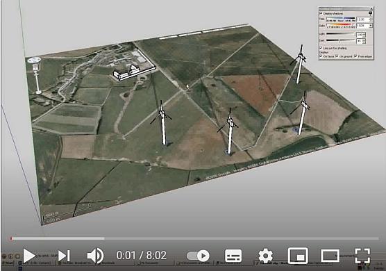 Windkraftanlagen und Schattenwurf