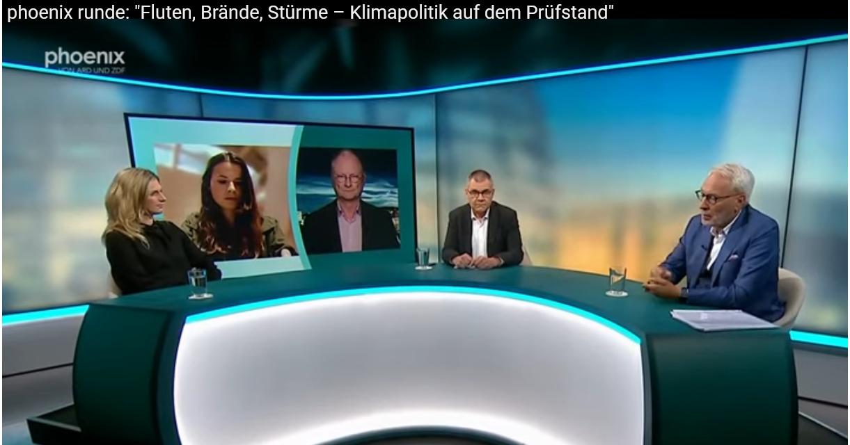"""Fritz Vahrenholt bei Phoenix zum Thema: """"Fluten, Brände, Stürme – Klimapolitik auf dem Prüfstand"""""""