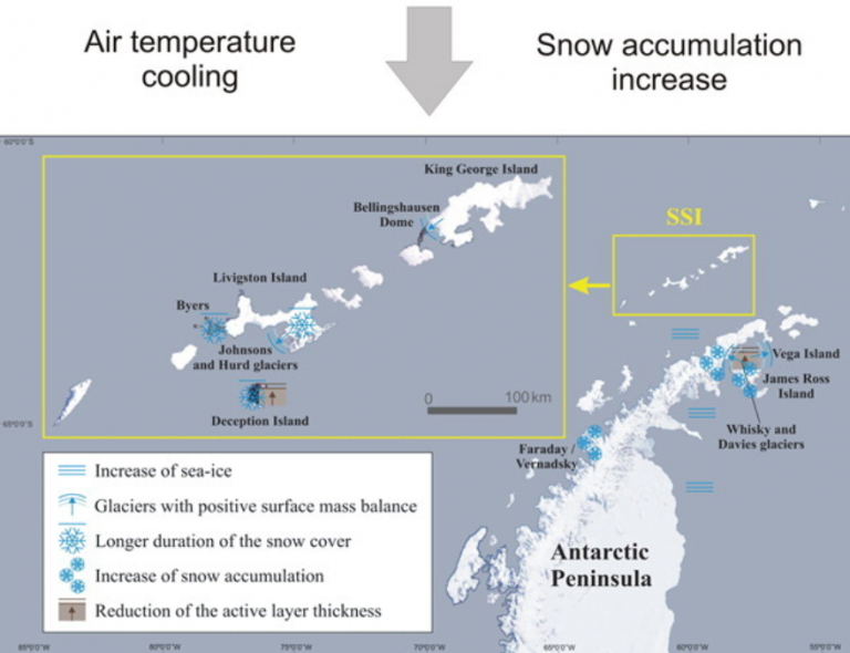 Beweismaterial: Die gesamte Antarktis kühlt ab… Halbinsel kühlte schon ab, lange bevor Greta geboren wurde
