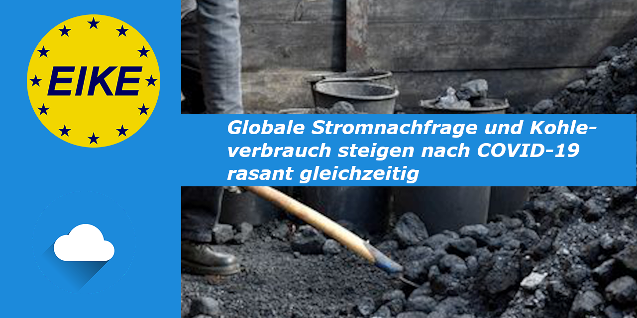 EIKE nachgelesen: Globale Strom-Nachfrage und Kohleverbrauch steigen nach COVID-19 rasant