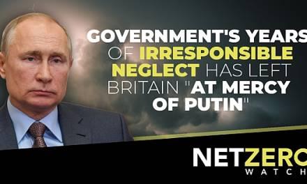"""Die jahrelange unverantwortliche Vernachlässigung der Energieversorgung, hat Großbritannien """"Putin ausgeliefert"""""""