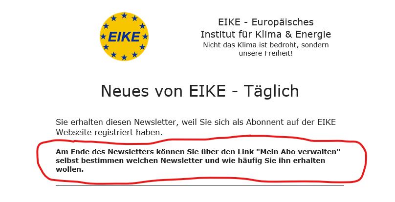 Rundbrief von EIKE bestellen: So geht's mit der neuen Seite